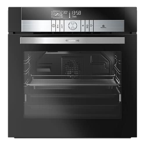 Grundig GEBS 46000 BHP - Horno multifunción con pirólisis, color negro