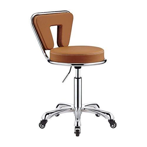 GXDHOME Boss Chair Sgabello da Parrucchiere, Poltrona Direzionale in Pelle Nera con Schienale Regolabile Chair Computer (Color : Orange)