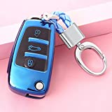 FLJKCT Car Styling Key Rings Cubierta Protectora Proteger Shell Cover Case Accesorios para automóviles, para Audi A1 A3 A3 8P 8L 8V S3 RS3 Q3 Q7 S3 TT