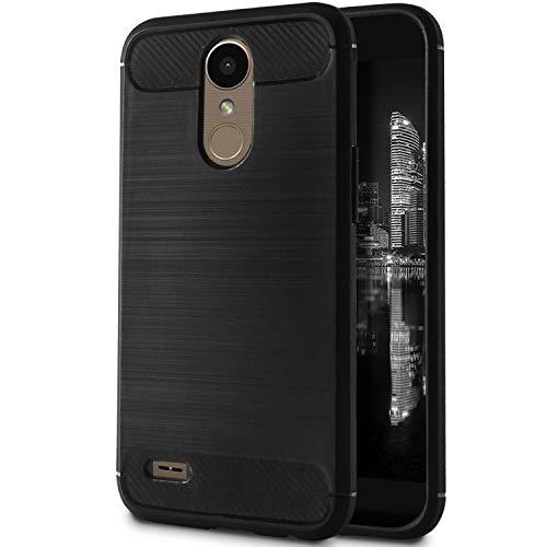 MyCase Bumper Sottile per LG K10 (2017)   Nero   Design Elegante Opaco Anticaduta