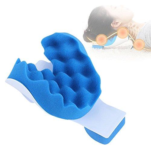 CANDYANA spons + kunststof ontlast spierspanning en pijn, theraputic neck ondersteuning spanning, blauw