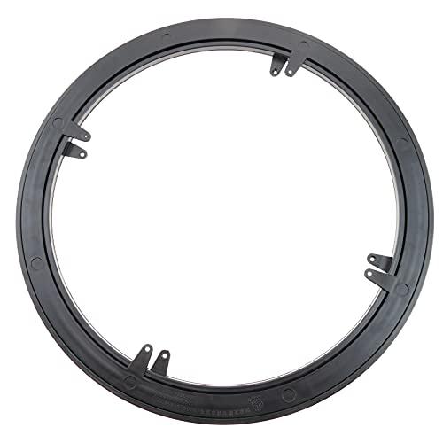 PrimeMatik - Base giratoria manual de 45 cm y 30 kg de carga. Plataforma rotatoria de color negro