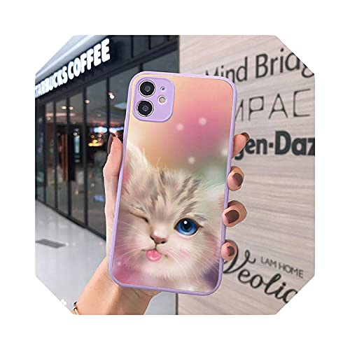 Lovely and Beautiful AnimalsAnimal Cat Phone Case Mate Transparente para iPhone 7 8 11 12 S Mini Pro X XS XR Max Plus Cover - A1 for iPhone X