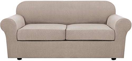 3 Piece Stretch Sofa Covers for 2 Cushion Sofa...