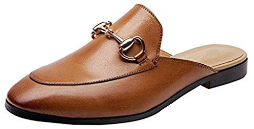 SimpleC Damen Horsebit Flache Leder Slip-On Loafers Mules Schuhe Br38.5(M)