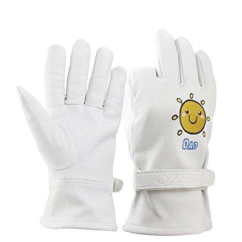BearHoHo - Guanti da giardino in pelle di capra, guanti da giardino, guanti per la casa, guanti protettivi (M, uomo)