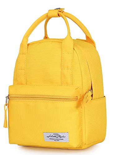 HotStyle BASIC PACKS EST. 2010 8811s Extra Mini Rucksack Geldbörse Niedlich für Frauen, Gelb