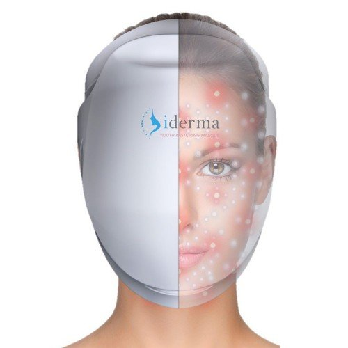 iDerma Anti-aging laser therapie masker | lichttherapie tegen rimpels & lijnen | 142 infrarood laserLED verlichting voor rimpelbestrijding