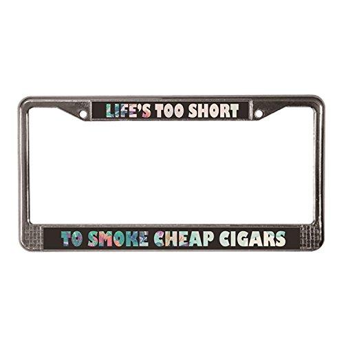 Warrantyll Novelty Metal Life Is te kort om te roken goedkope sigaren kentekenplaat frame 6 bij 12 Inch