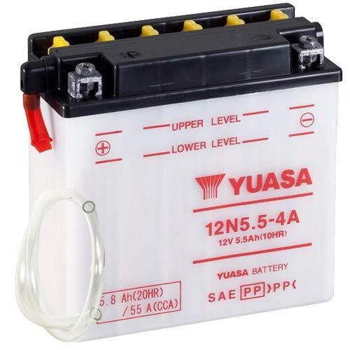 Batterie YUASA 12N5.5-4A (DC) offen ohne Säure, 12V|5,5Ah|CCA:55A (135x60x130mm) für Yamaha MT 125 Baujahr 2015