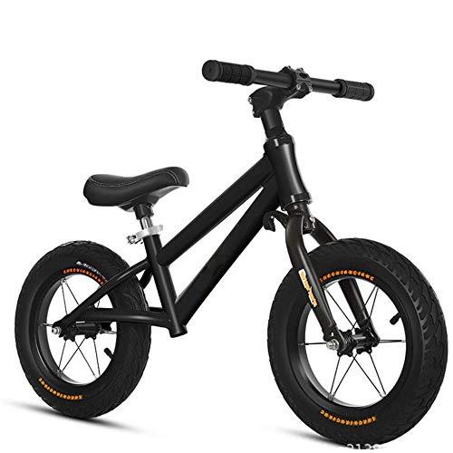 Walker Juegos Al Aire Libre De Los Niños Bike Balance Alto Contenido De Carbono Marco De Acero/Aleación De Aluminio De Neumáticos Inflables Niños,Negro,Carbon Steel Frame