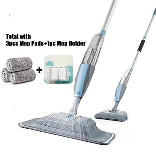 JYSL Mop 3 In 1 Spray Mop Und Kehrmaschine Staubsauger Hartbodenreinigung Flach Werkzeug-Set for Haushalts-Hand Easy Use Mop (Color : 3 pcs Pads 1 Holder)