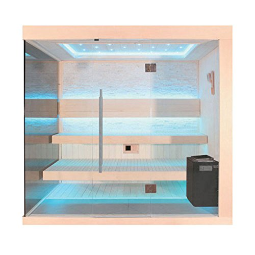AWT Sauna B1245C Pappelholz/180x180/9kW EOS BiO-Thermat