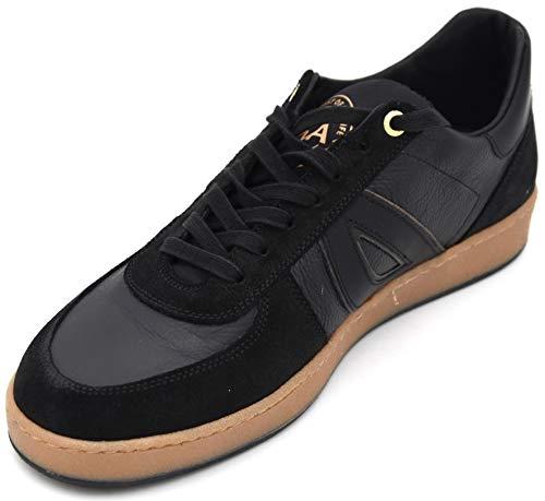 D'ACQUASPARTA Uomo Scarpa Sneaker Casual Tempo Libero Pelle Art. D 039 U100 40 Nero Black