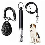 SUMAJU 3 Pcs Dog Whistle Set, Professional Dog Training Whistles with Dog Clicker