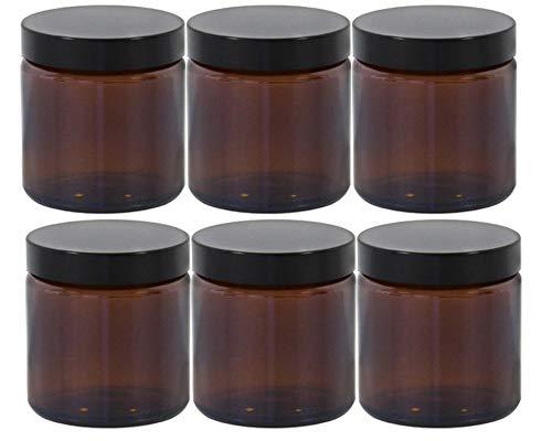 Ideal para cosm/ética casera Tarro de Crema de 30 ml con Tap/ón de Rosca Dorado 6 Piezas Tarro de Cristal Vac/ío