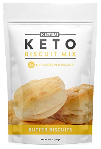 Low Karb - Keto Biscuits Mix - Low Carb Food - Easy to Bake - Perfect for Breakfast - Only 2g Net Carbs (Butter) (11.3 oz) (1 Count)