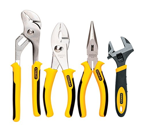 STANLEY 84-558 4-Piece Plier and Adjustable Wrench Set Tool Sets