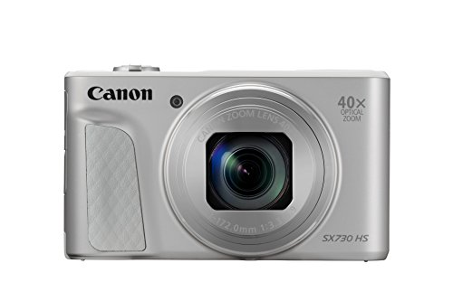 Canon PowerShot SX730 HS Digitalkamera (20,3 MP CMOS-Sensor, 40-fach Zoom, Full HD, WLAN/bluetooth, 7,5cm) silber