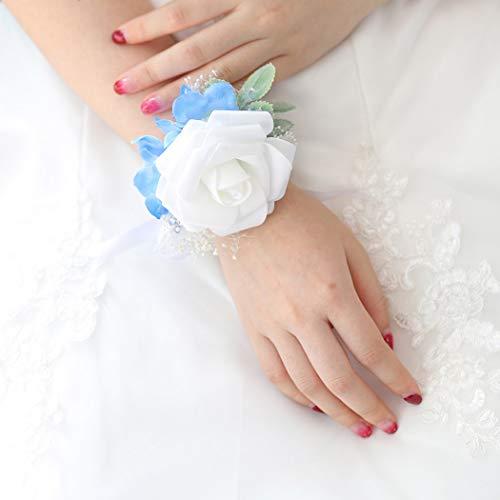 Prom flower bracelet