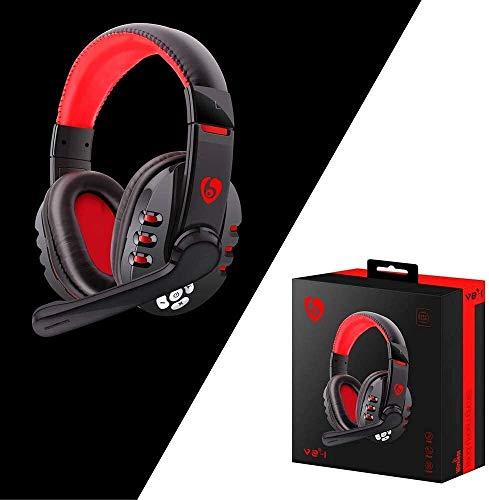 MZZYP Auriculares Bluetooth, auriculares inalámbricos para videojuegos, con micrófono para PC/teléfono estéreo Gaming Headset
