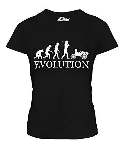 Candymix Liegerad Evolution des Menschen Damen T Shirt, Größe Small, Farbe Schwarz