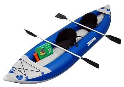 MK-1205R Maxxon Two Man Red 12ft 5in Self-Bailer Inflatable Kayak