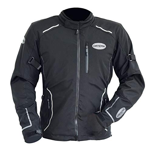 ORTEMA Biker Jacket Ladakh Gr.S - Unisex - Allwetter Motorradjacke - CE-zertifiziert - Protektoren Level 2 - integrierter Rückenprotektor RP1 Dynamic - für Motorradtouren zu jeder Jahreszeit