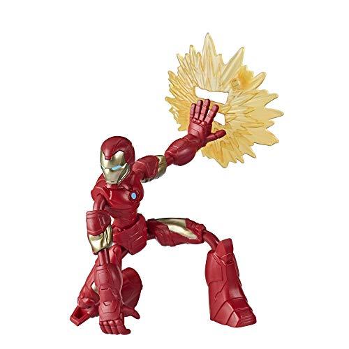 Hasbro Marvel Avengers Bend And Flex Action-Figur, 15 cm große biegbare Iron Man Figur, enthält ein Effekt-Accessoire, für Kids ab 6 Jahren