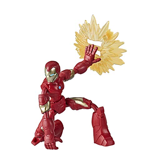 Avengers- Bend and Flex Figura Iron Man 15 Cm (Hasbro E78705X0) , Color/Modelo Surtido