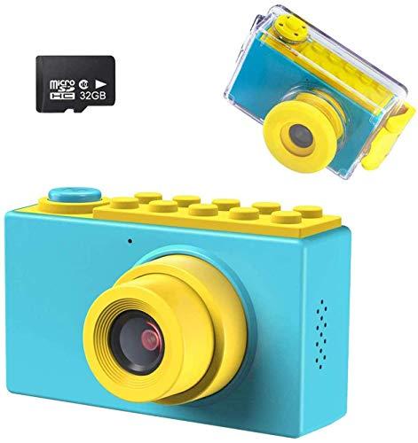 Kriogor Caméra étanche pour Enfants, 2 Pouces 10m Appareil Photo Numérique pour Enfants + 8 mégapixels + Couverture étanche + Carte 32G TF pour Garçons Filles