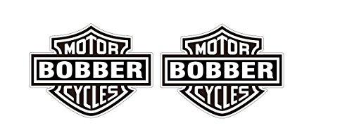 Bobber Motorcycle Oldschool Chopper Biker Rebel Aufkleber Sticker + Gratis Schlüsselringanhänger aus Kokosnuss-Schale + Oldschool Rockabilly Car Bumper Bike Helm Bobber Block Tuning Racing