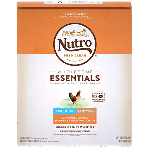 NUTRO WHOLESOME ESSENTIALS Puppy Large Breed Natural Dry Dog Food Farm-Raised Chicken, Brown Rice & Sweet Potato Recipe, 30 lb. Bag