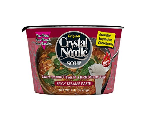 Crystal Noodle Spicy Sesame Paste, 2.47 oz Cardboard Cup, 6 ct, Red