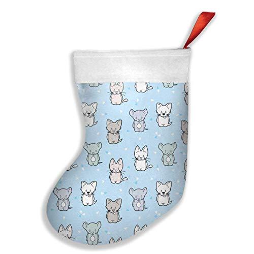 Calcetines de Navidad para perros y ratones con diseño de gato y ratón, ideales para decorar fiestas de Navidad, Navidad, árbol de Navidad, juguetes colgantes de Navidad, bolsas de regalo para niños