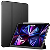 JETech Funda Compatible iPad Pro 11 Pulgadas, Modelos 2021/2020, Compatible con Pencil, Smart Cover Auto-Sueño/Estela, Negro