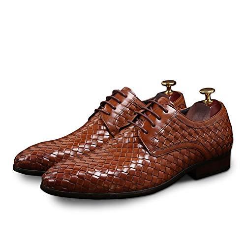 YXD - Zapatos de Piel para Hombre, Estilo Retro, Color Negro, 39