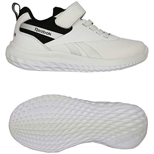 Reebok Rush Runner 3.0 Syn, Zapatillas de Running, Blanco/Negro/Plamet, 30.5 EU