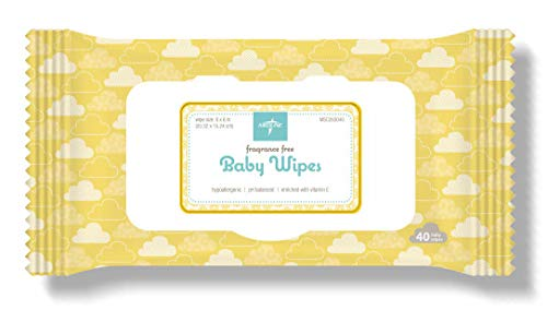 Medline AloeTouch Baby Wipes, Cleansing Cloths, 960 Count, Unscented, 8 x 6 inch Baby Wipes