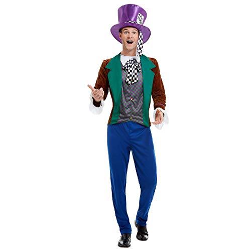 NET TOYS Verrückter Hutmacher Kostüm - L (52/54) - Außergewöhnliche Herren-Verkleidung Alice im Wunderland - Bestens geeignet für Kostümfest & Karneval