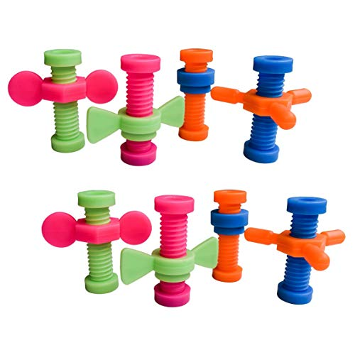 Munchables Sensory Calming Fidgets to Reduce Anxiety and Provide Stress-Relief (Set of 8 Toolbox Pencil Toppers)