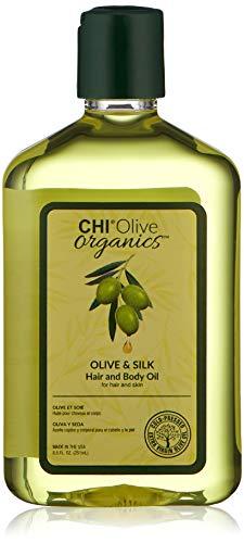 Olive Organics by CHI Olive & Silk - Olio per capelli e corpo, 251 ml