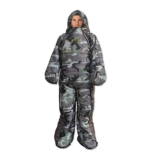 Schlafsack Mit Ärmeln Und Füßen Erwachsene, Tragbarer Ganzkörper-Schlafsack Für Camping Im Freien Oder Zur Verwendung Zu Hause Oder Im Büro