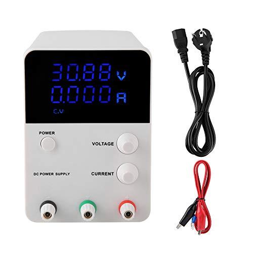 Fuente de alimentación ajustable, GPS3010D Fuente de alimentación de interruptor regulable DC regulable digital 30V 10A AC 220-240V metro Fuente de alimentación de interruptor eléctrico(UE)
