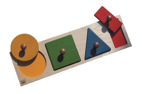 edufun EF 21120Puzzle Spielzeug Geometrische Formen groß