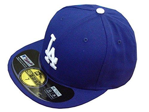 New Era Erwachsene Baseball Cap Mütze Mlb Authentic LA Dodgers 59Fifty Fitted Team Colour, Blau, 6 7/8