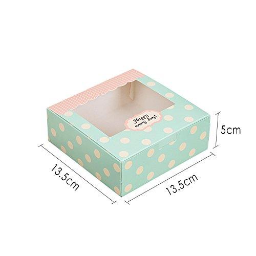 Zhi Jin Caja de 12Cavidades Moldes de Papel para Magdalenas Cupcake Postre Embalaje Cajas de Regalo panadería contenedor Set 5Inch, 13.5 * 13.5 * 5cm