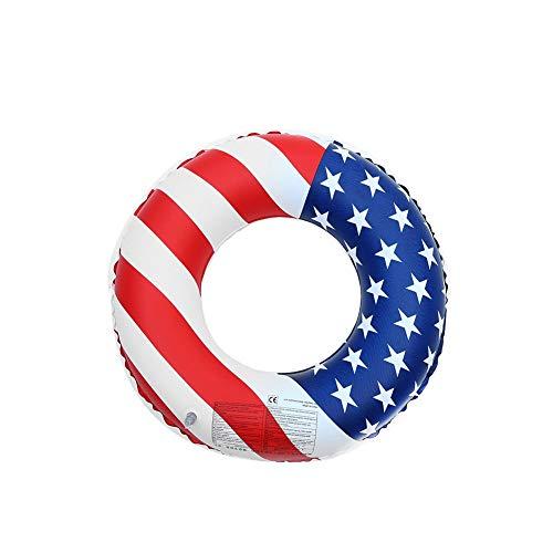 Piscina hinchable juguete de playa playa con bandera estadounidense anillo de PVC