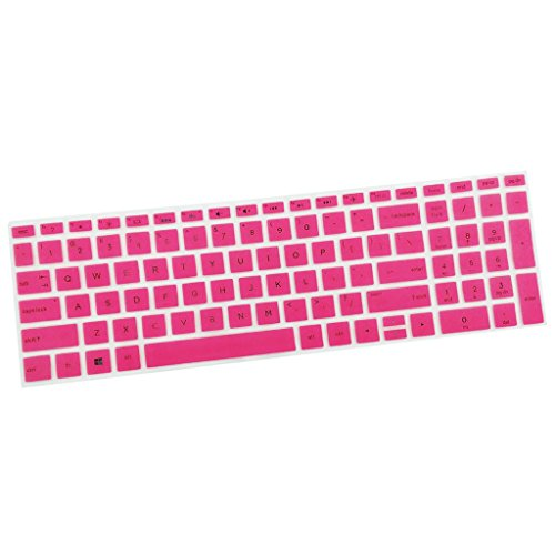 gazechimp 15.6Inch Keyboard Cover Skin Case Dust-Proof Keyboard Silicone for HP 15.6inch BF Pink Laptop Desktop