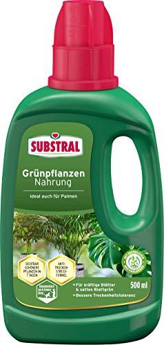 Substral Grünpflanzen Nahrung, Qualitäts-Flüssigdünger für alle Grünpflanzen im Zimmer auf Balkon, Terrasse und Beet mit natürlichen Biostimulanzien, 500 ml